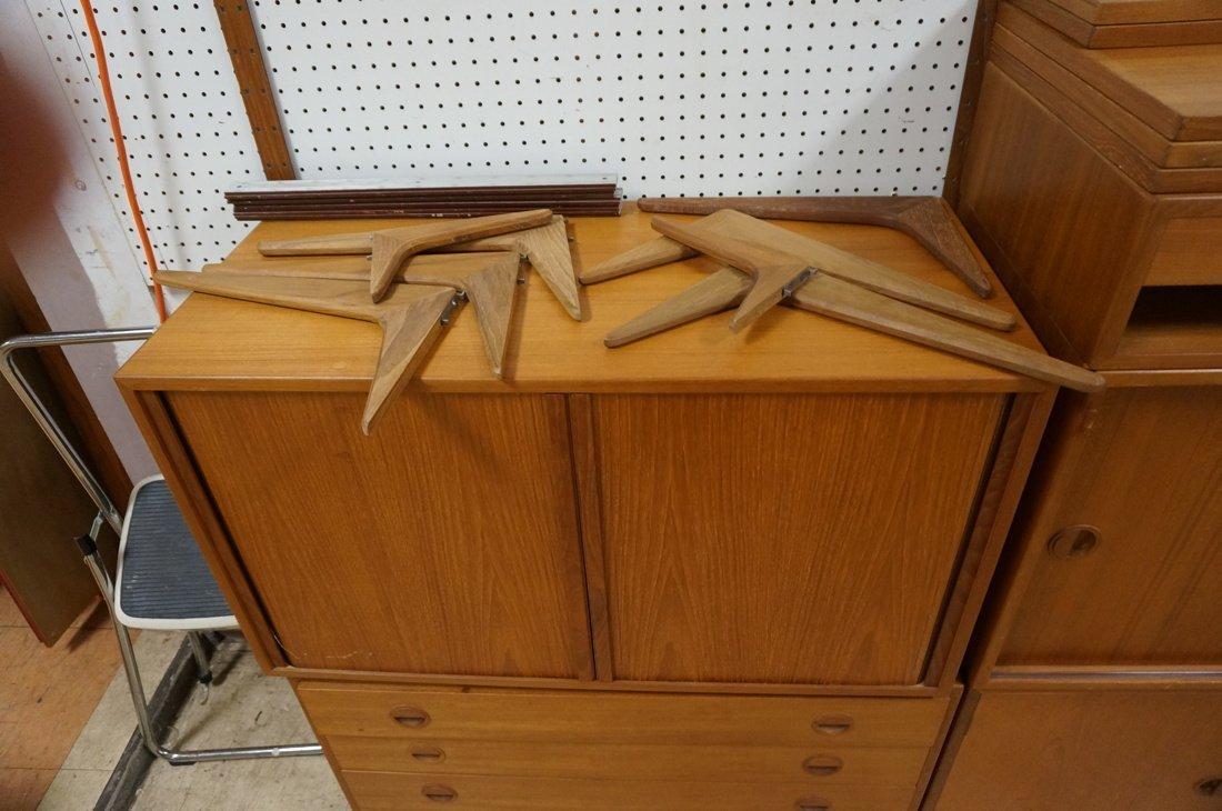 Danish Teak Wall Shelf Unit. Four Uprights. Four - 2