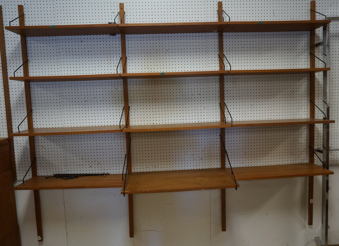 Danish Teak Shelf Wall Unit.
