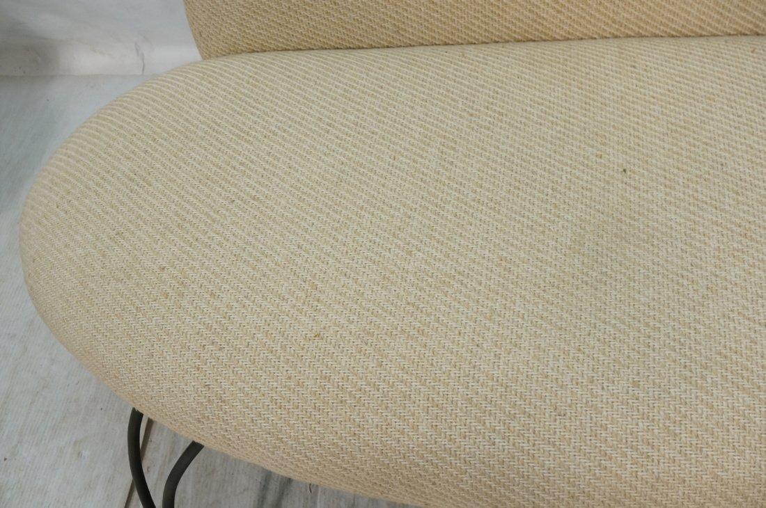 Decorator Black Iron Bench Love Seat. Oatmeal fab - 8