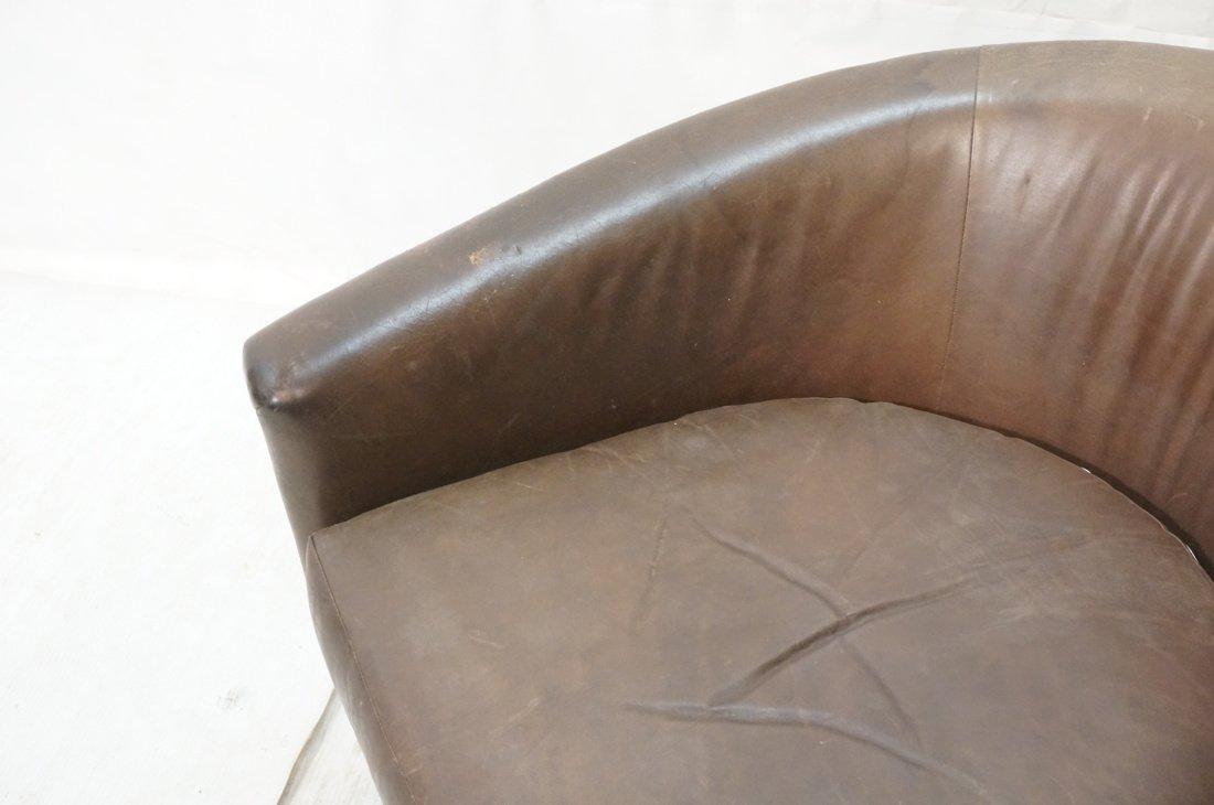 Milo Baughman style Low Barrel Back Lounge Chair. - 3