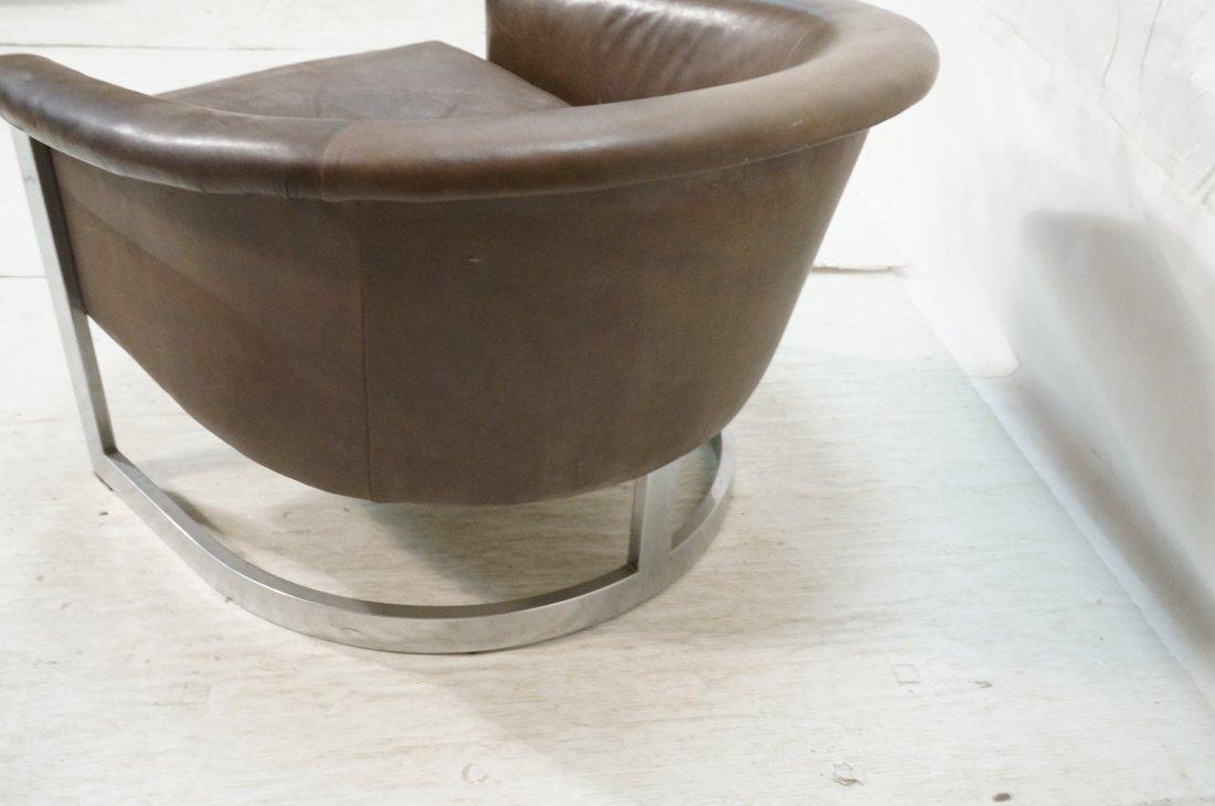 Milo Baughman style Low Barrel Back Lounge Chair. - 7