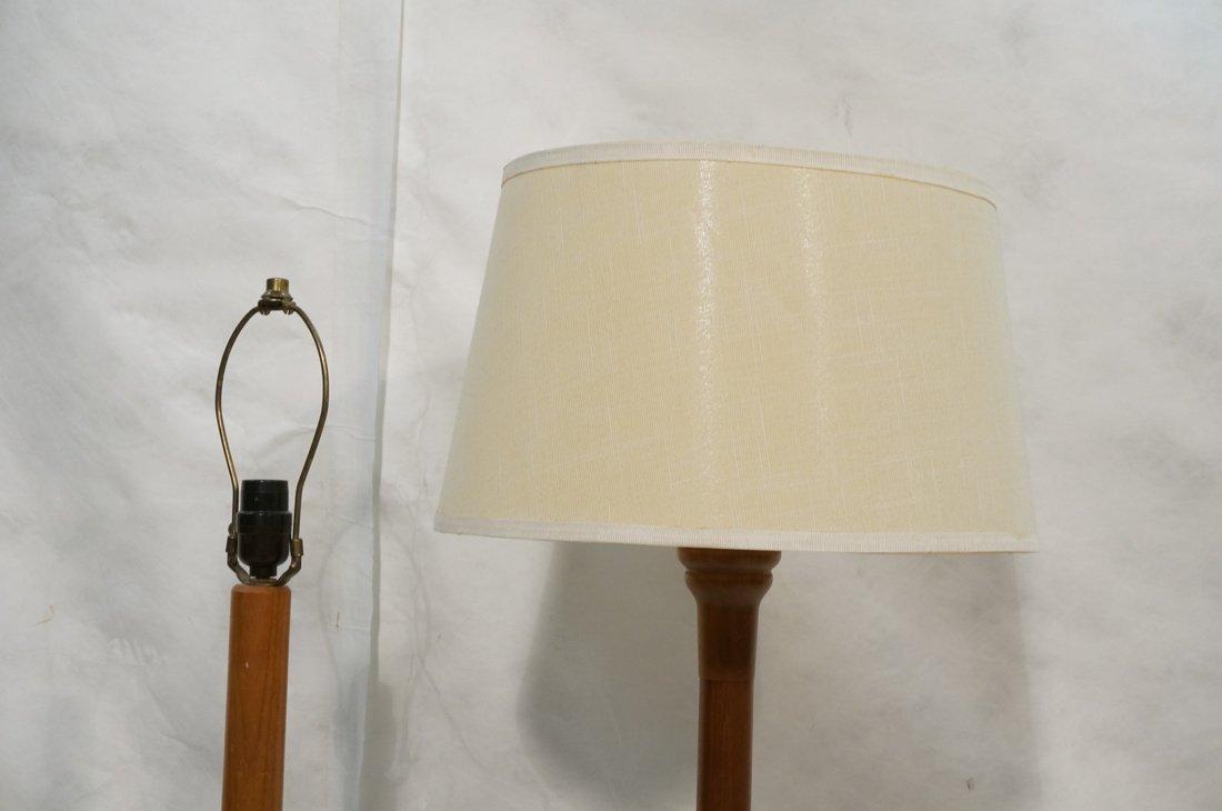 2 Danish Teak Floor Lamps. Single Column Form. - 2