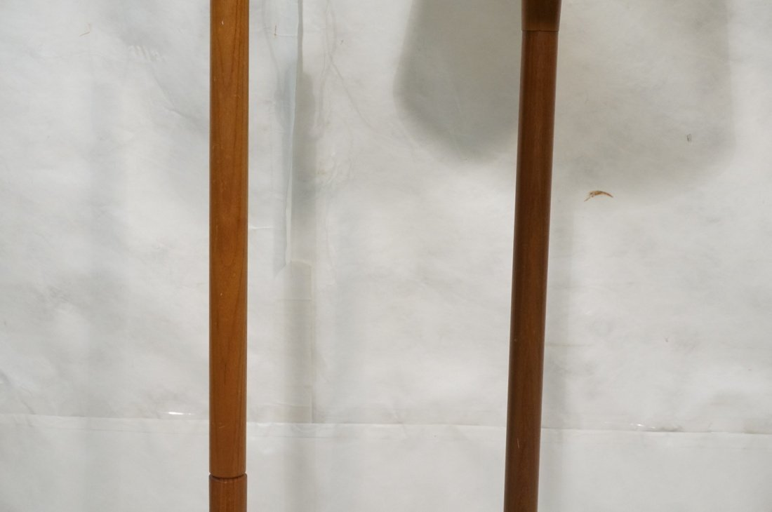 2 Danish Teak Floor Lamps. Single Column Form. - 3