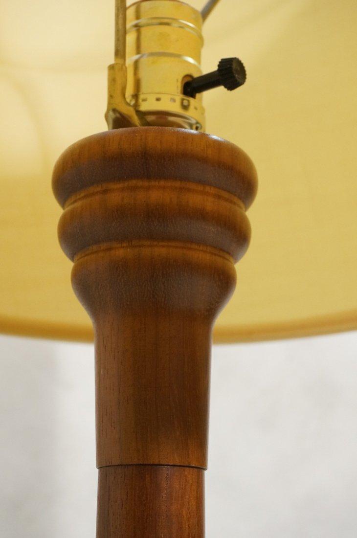 2 Danish Teak Floor Lamps. Single Column Form. - 9