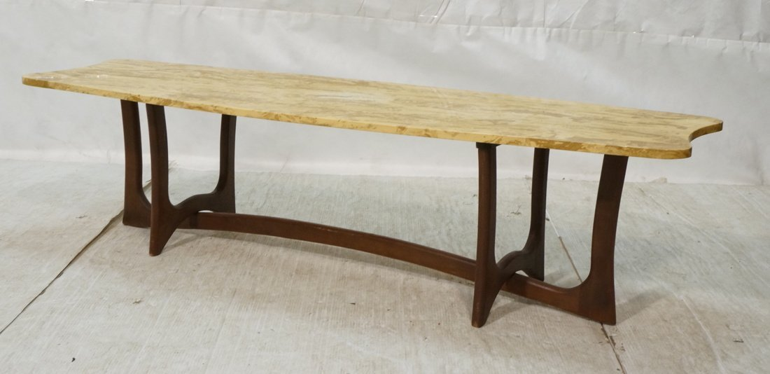 ADRIAN Pearsall style Coffee Cocktail table. Shap