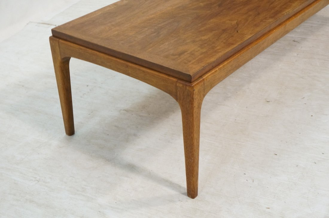 Long LANE American Modern Coffee Cocktail Table. - 6
