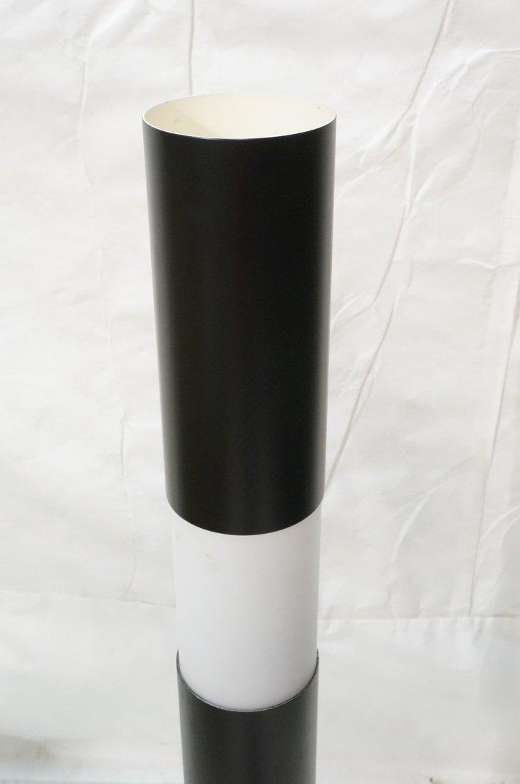 Black Column Floor Lamp. Frosted glass stripe ill - 2
