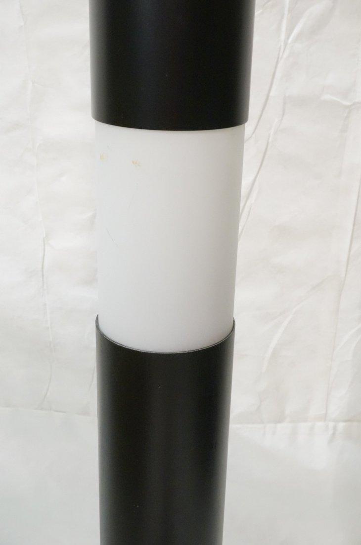 Black Column Floor Lamp. Frosted glass stripe ill - 3