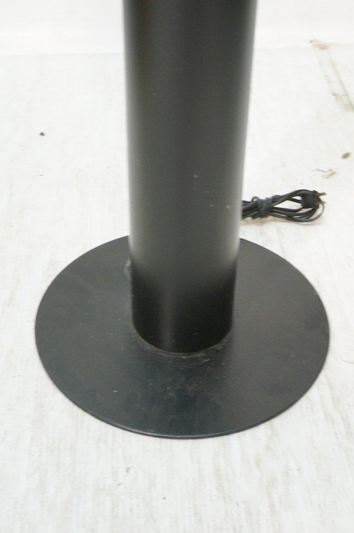 Black Column Floor Lamp. Frosted glass stripe ill - 5