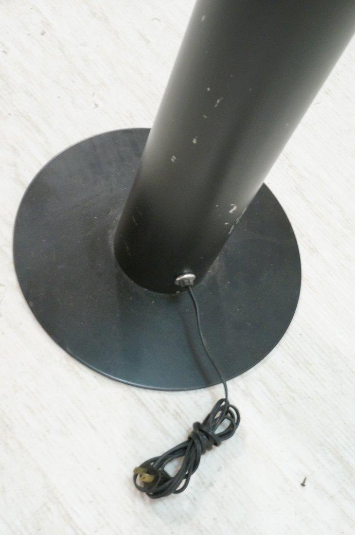 Black Column Floor Lamp. Frosted glass stripe ill - 6