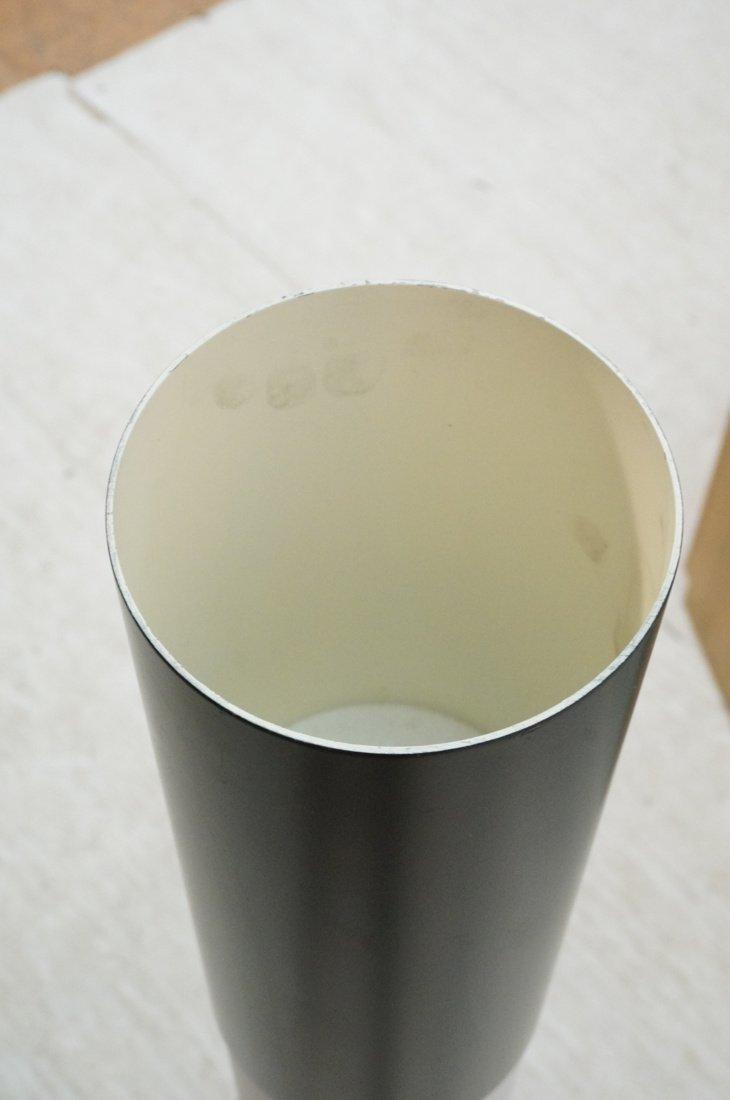 Black Column Floor Lamp. Frosted glass stripe ill - 7