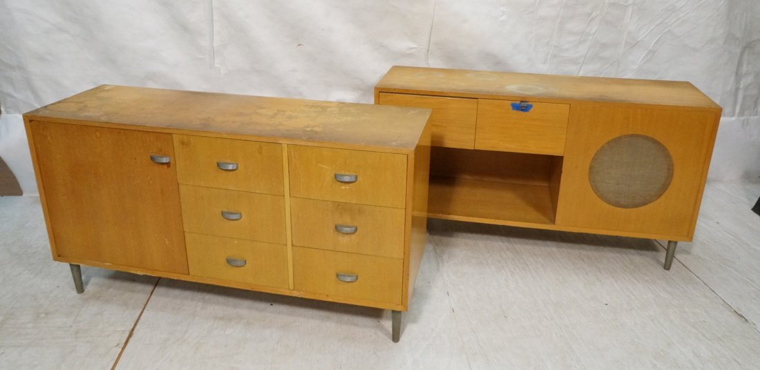2pcs GEORGE NELSON Cabinets. 1) Six drawer, one d