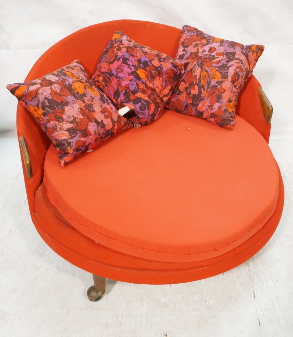 ADRIAN PEARSALL Round Lounge Chair. Red Circle fo