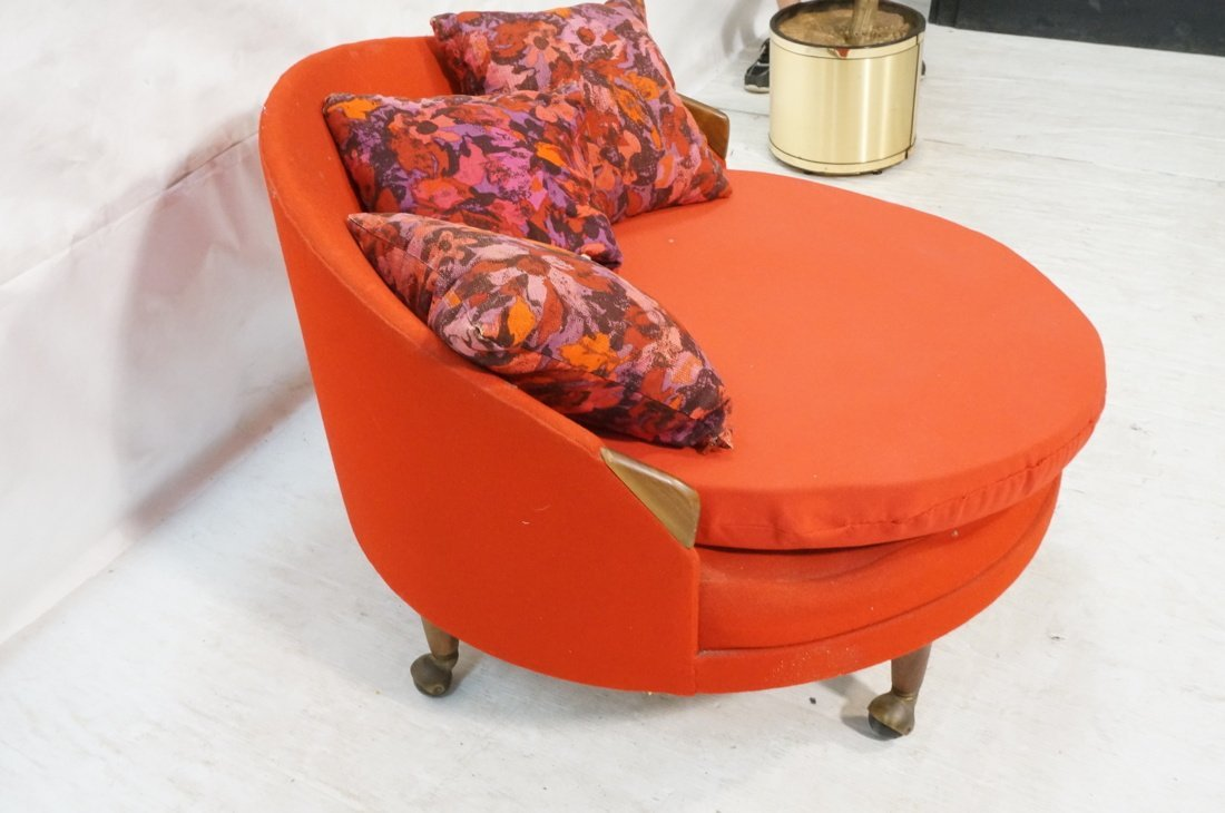 ADRIAN PEARSALL Round Lounge Chair. Red Circle fo - 2