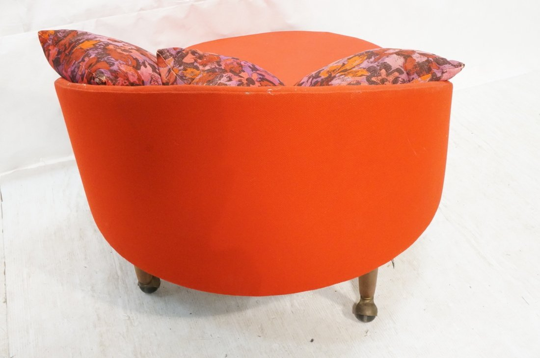 ADRIAN PEARSALL Round Lounge Chair. Red Circle fo - 7