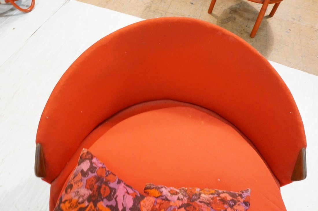 ADRIAN PEARSALL Round Lounge Chair. Red Circle fo - 8