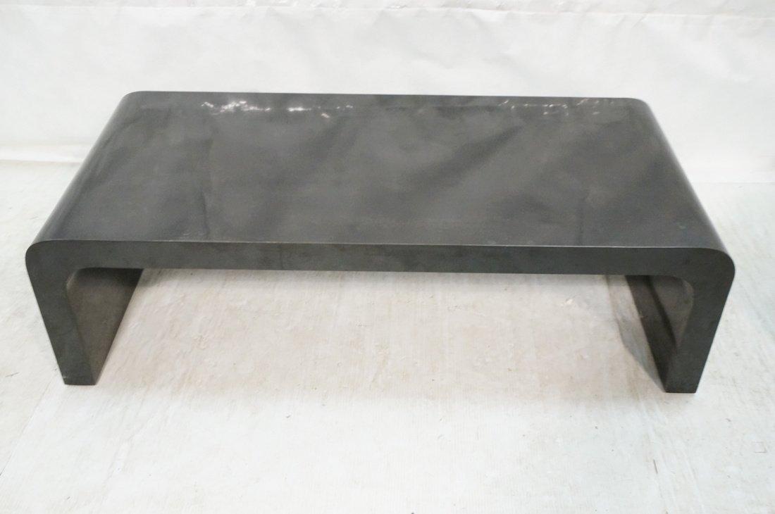 2pcs 70's Modern Tables. Black Laminate Coffee & - 2