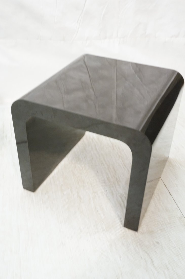 2pcs 70's Modern Tables. Black Laminate Coffee & - 3