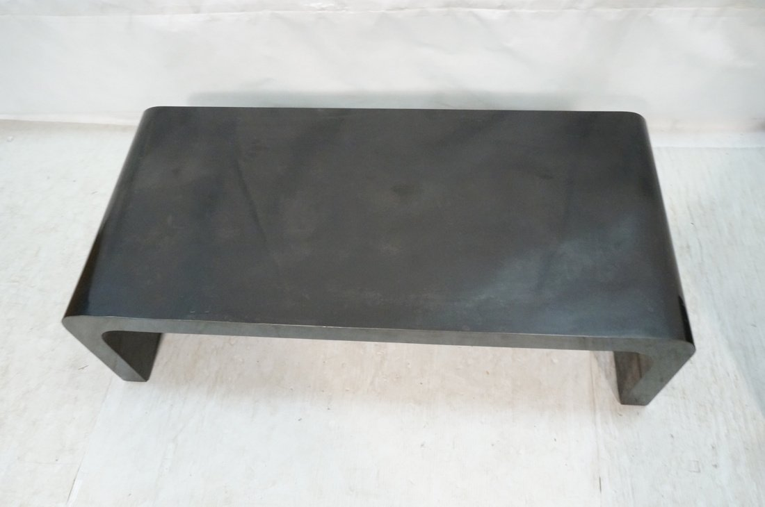 2pcs 70's Modern Tables. Black Laminate Coffee & - 4