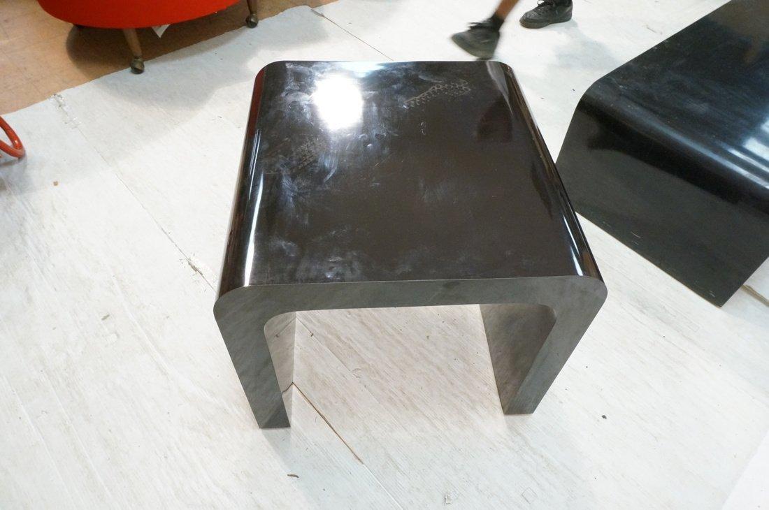 2pcs 70's Modern Tables. Black Laminate Coffee & - 6