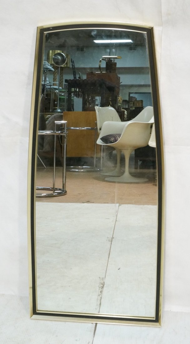 Turner Decorative Wall Mirror. Gold metal with bl