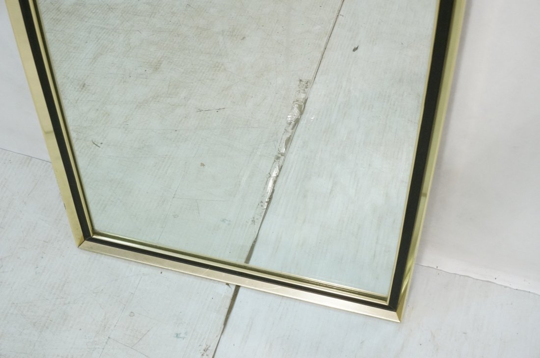 Turner Decorative Wall Mirror. Gold metal with bl - 4