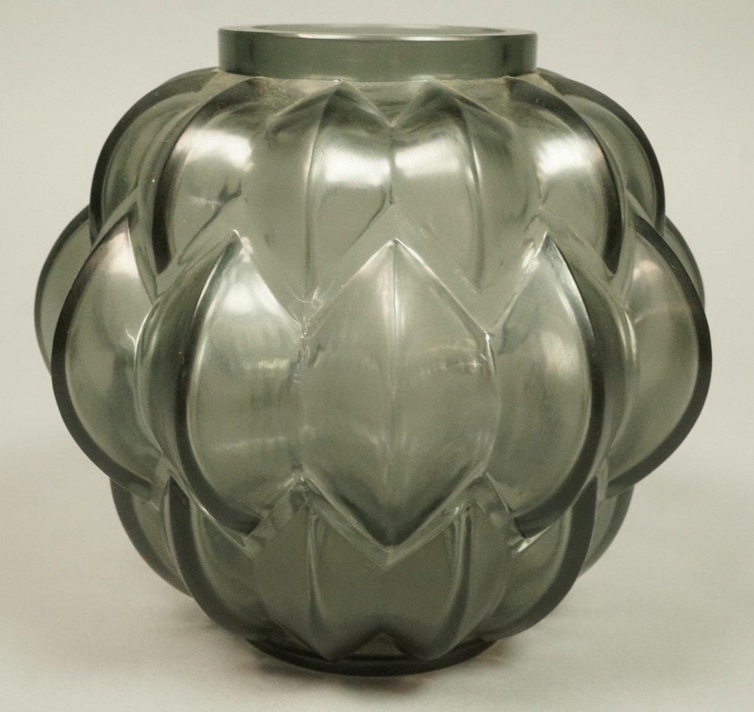 LALIQUE Antique Art Deco Crystal NIVERNAIS Vase.