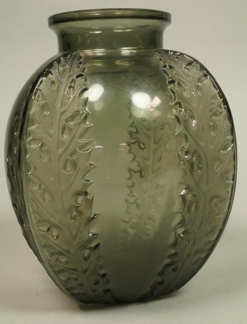 RENE LALIQUE Antique Art Deco Crystal CHANDONS Va