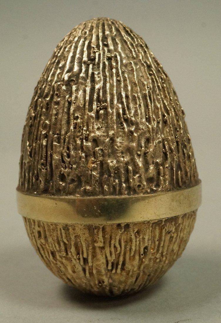 STUART DEVLIN Sterling Covered Egg. English