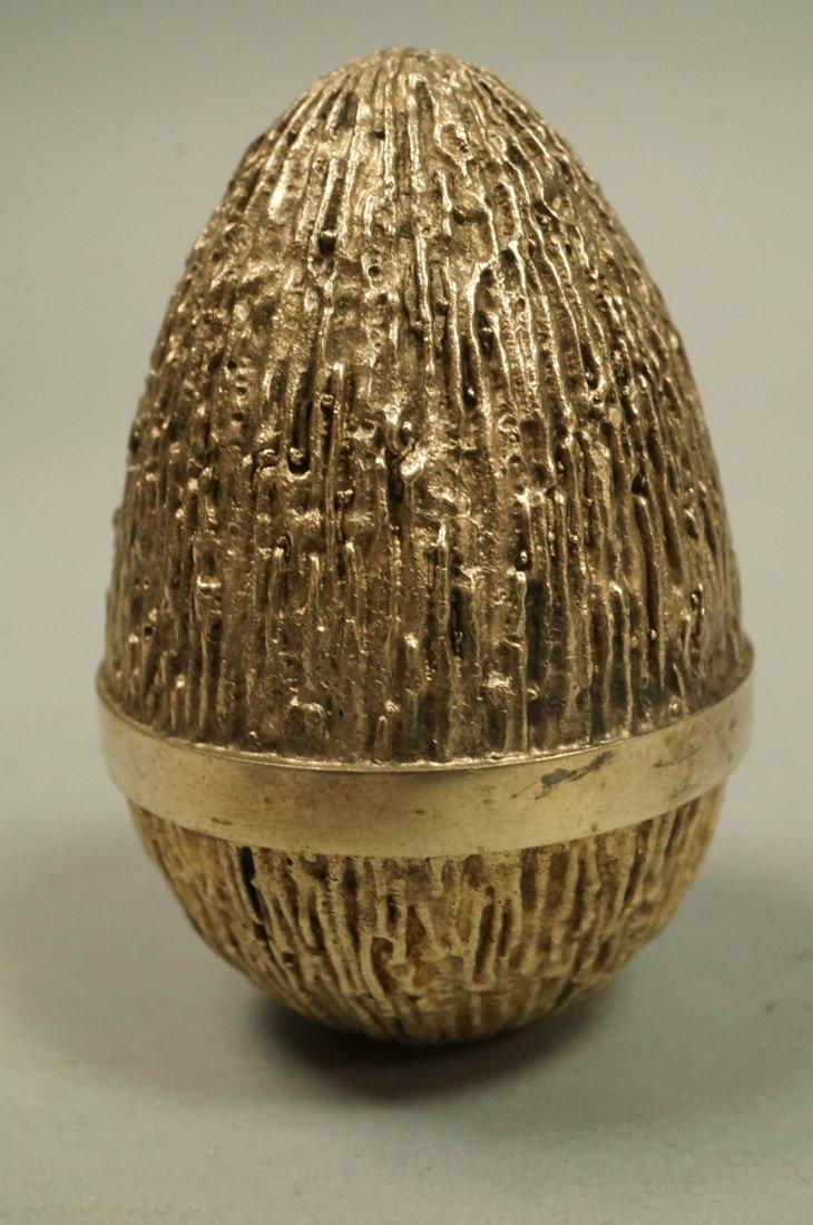 STUART DEVLIN Sterling Covered Egg. English - 2