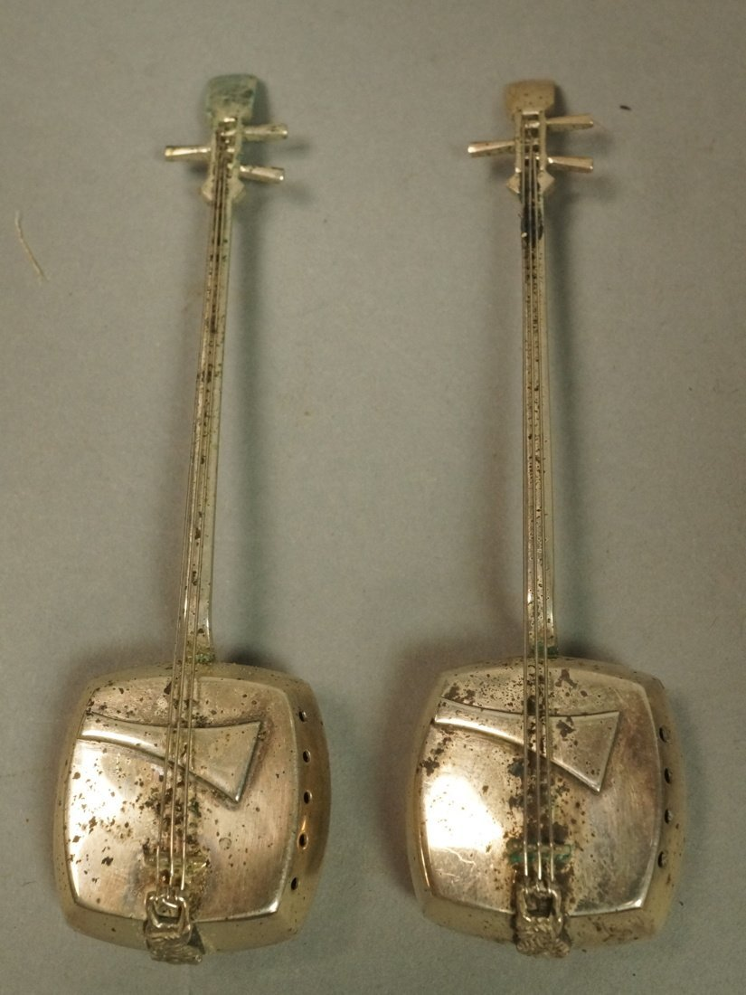 Pr Japanese Sterling Musical Instrument Salt Pepp