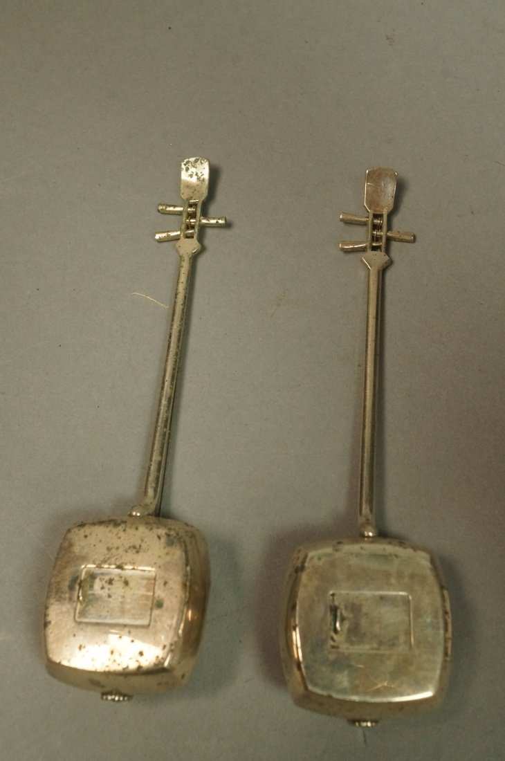 Pr Japanese Sterling Musical Instrument Salt Pepp - 2