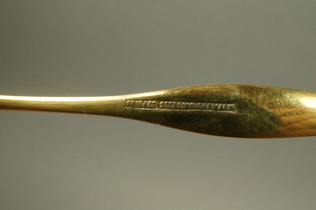 12 Danish Demitasse Enamel Sterling Spoons. FRIGA - 3