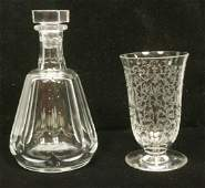 2pcs BACCARAT French Crystal 1 Heavy crystal St