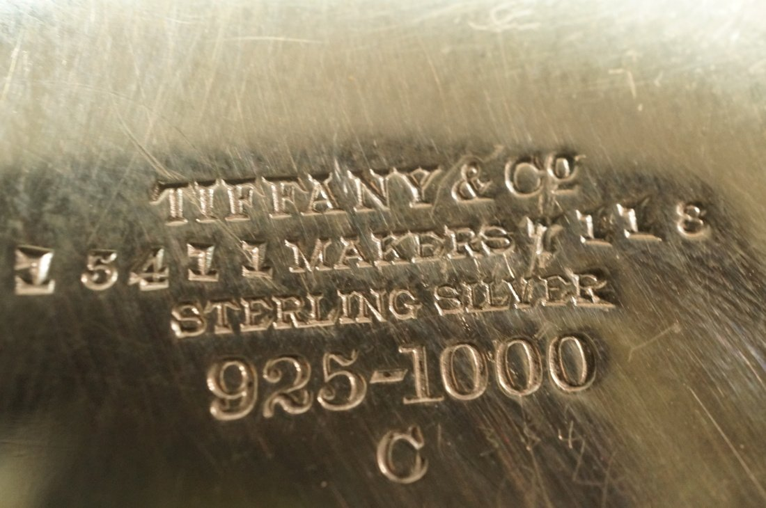 TIFFANY & Co Small Heavy Sterling Shell Dish. Rou - 4