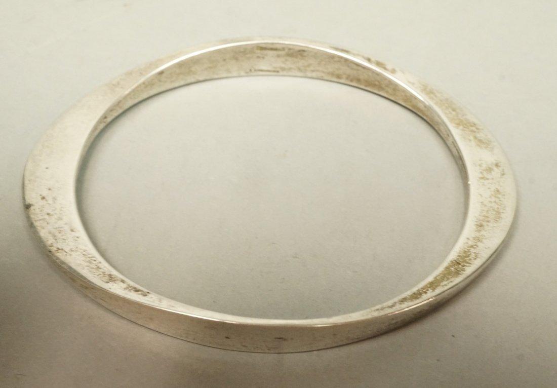 Sterling RONALD PEARSON Elliptical Bangle Bracele