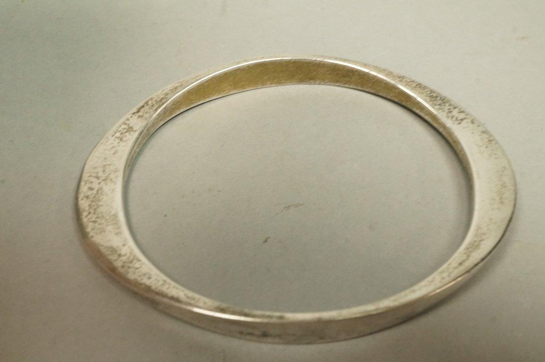 Sterling RONALD PEARSON Elliptical Bangle Bracele - 2