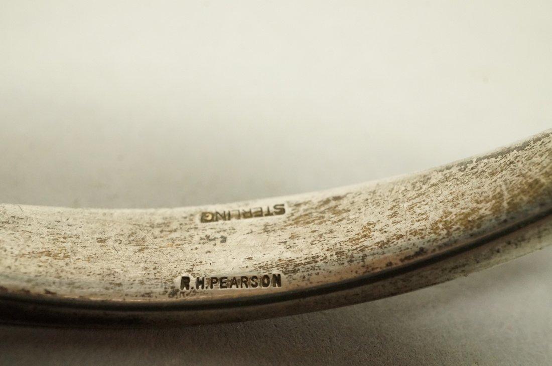 Sterling RONALD PEARSON Elliptical Bangle Bracele - 3
