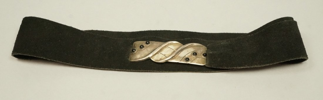 WILLIAM SPRATLING Sterling Belt Buckle. Modernist