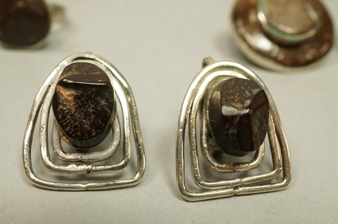 Lot 6pcs Colombian Coconut Shell Jewelry. 1 Rings - 2