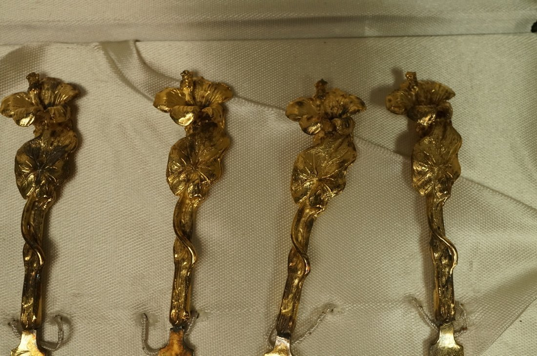 2 sets TOW Gilt Sterling boxed Hors D'oeuvre Sets - 5