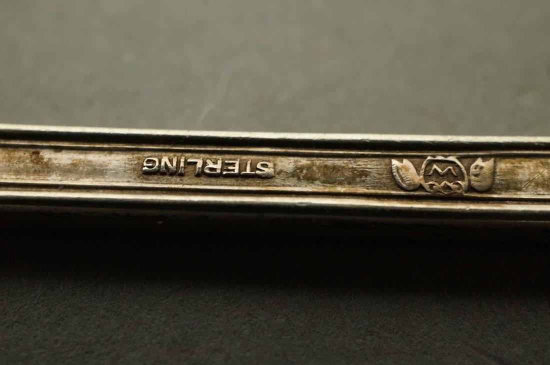 11pc Silver Items. 8 demitasse spoons marked zLz. - 3