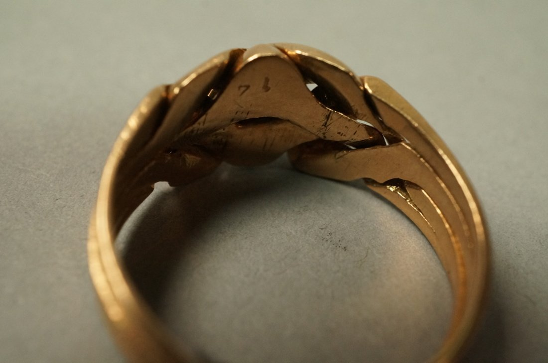 14K Gold Puzzle Ring.  4 interlocking sections. - 4