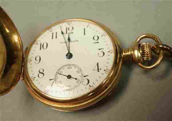 14K Gold Closed Case Pocket Watch. Waltham #14345260