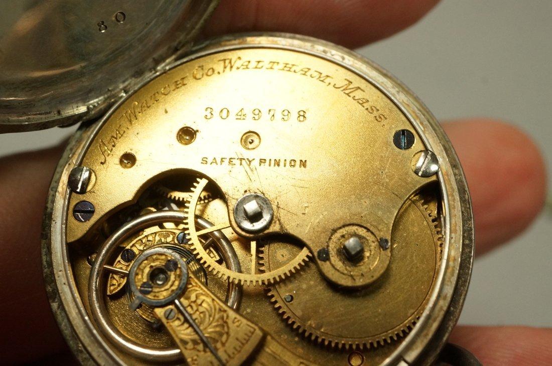 Antique Waltham Key Wind Pocket Watch.  #3049798. - 4
