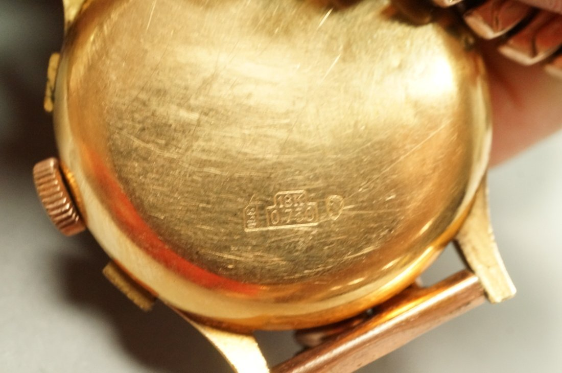 18K Gold Chronographe Suisse Wrist Watch.  Large - 3
