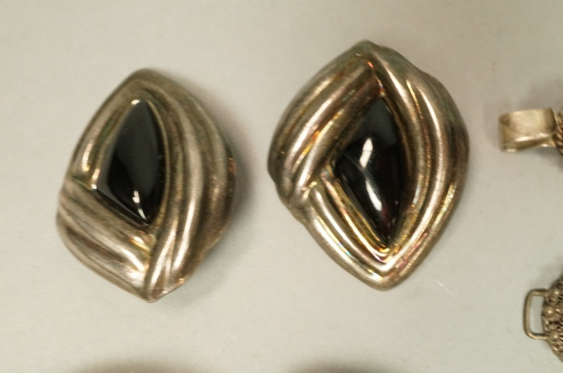 12pc Sterling & Silver Costume Jewelry Lot. 2 Lar - 2