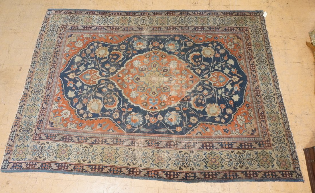 11'4 x 8'4 Large antique handmade carpet Farahan