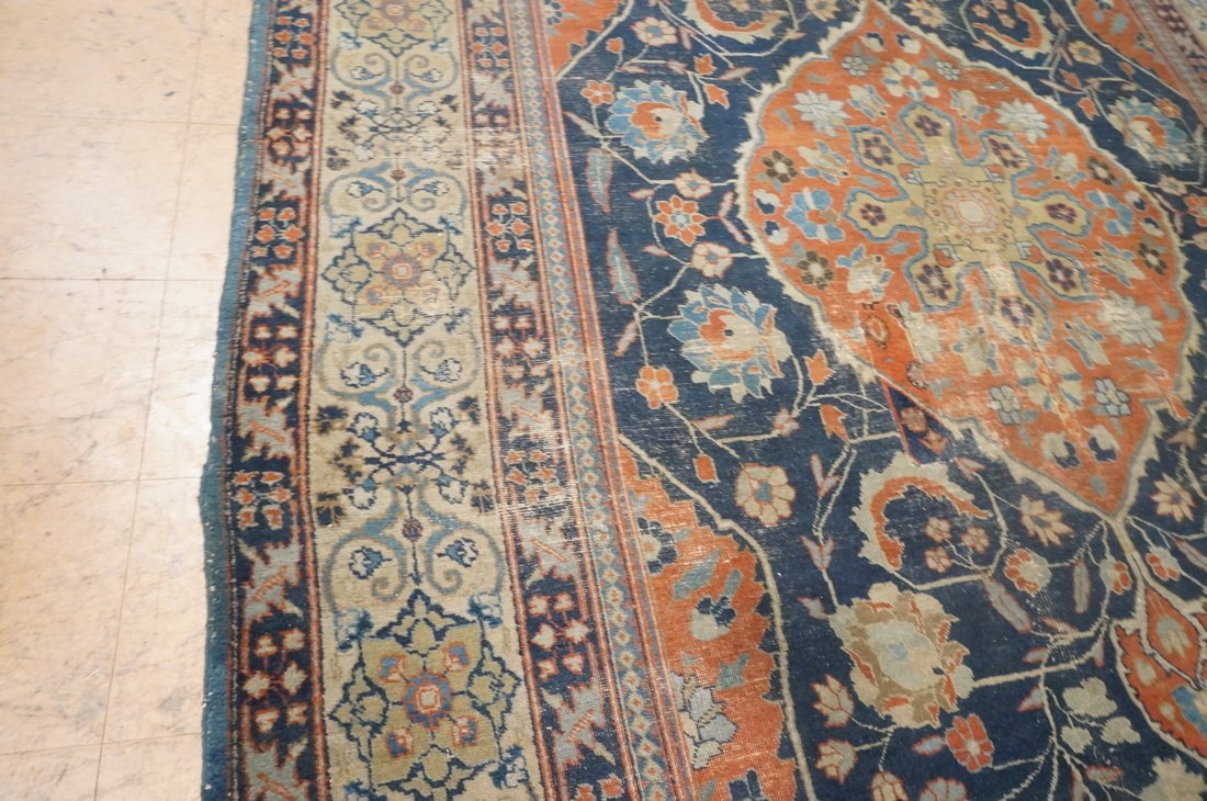 11'4 x 8'4 Large antique handmade carpet Farahan - 2