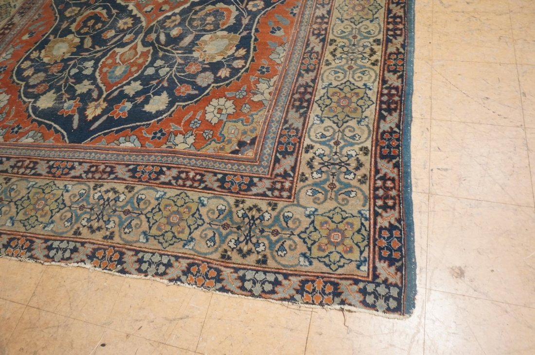 11'4 x 8'4 Large antique handmade carpet Farahan - 3